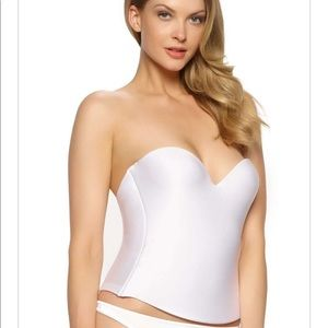 Felina Essentials Bustier Wedding Bra White 36C